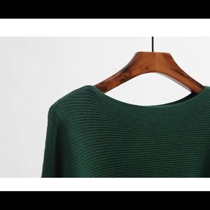 Sweaters - Boat Neck Dolman Knitted Sweater Pullover Top NEW